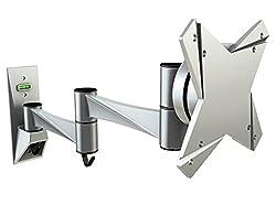 RICOO S1711, Monitor-Halterung, Schwenkbar, Neigbar, Universal (13-32 Zoll (33-81 cm)) Aluminium, Wand-Halterung, Bildschirm-Halterung, Wand-Halter, TFT-, LCD-, LED-Monitore, VESA 75x75 100x100, Silber