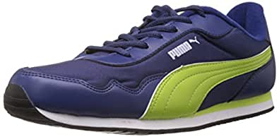 Puma Men's Street Rider DP Blueprint-Lime Punch-White Running Shoes - 11 UK /India(46EU)