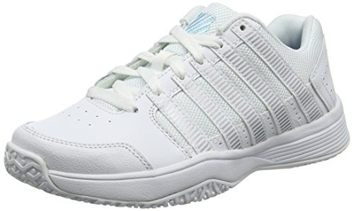K-Swiss Performance Hypercourt Express HB, Scarpe da Tennis Donna, Bianco (White/Highrise 107m), 39.5 EU