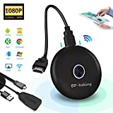 XDDIAS WiFi Display Dongle 1080P HD, 2.4G Display Wireless Adattatore Senza Fili Media TV Stick Miracast Dongle Ricevitore Convertitore Supporto per Android Smartphone/PC/Proiettore