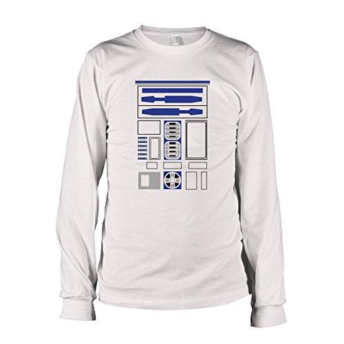 TEXLAB - R2 D2 Uniform - Herren Langarm T-Shirt, Größe L, weiß