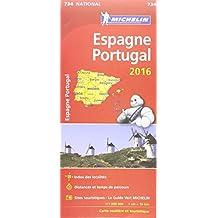 Carte Espagne, Portugal 2016 Michelin