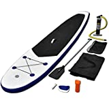 vidaXL SUP Board Set Stand Up Paddle Surfboard Surfbrett aufblasbar Wellenreiter Blau