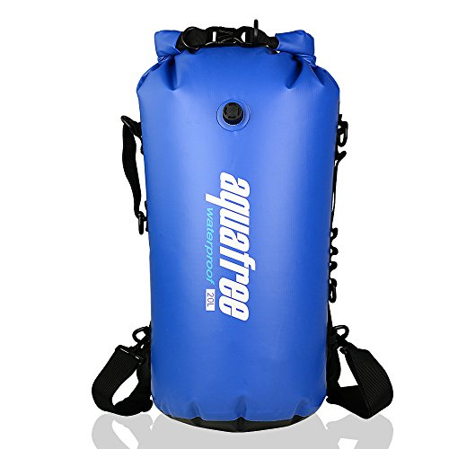 aquafree-dry-bag-30l-blue-waterproof-backpack-inflatable-mouth-side-handle-detachable-waistband-d-ri