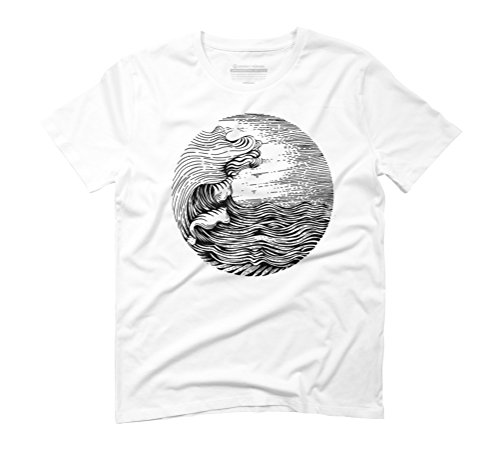 wave illustration Men's Graphic T-Shirt - Design By Humans White