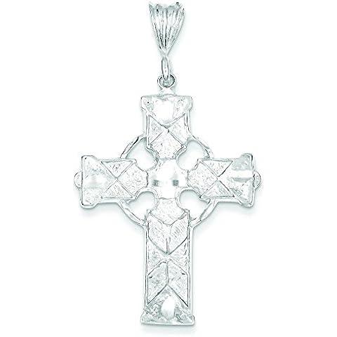 Motivo celtico, argento sterling e Iona Croce Ciondolo - Croce Celtica Iona