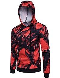 1c31293f512d Hommes Encre Peinture Numérique Impression Sweat à Capuche Sweat à Capuche  Hauts Manches Veste Manteau Outwear