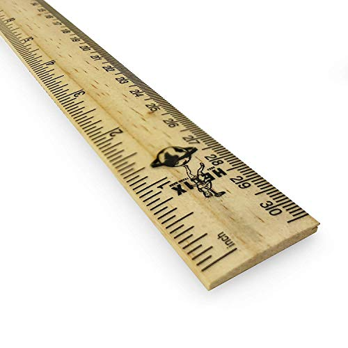 "Helix Oxford Vintage 12""/30cm Wooden Ruler - Double Sided - Single - 801714"