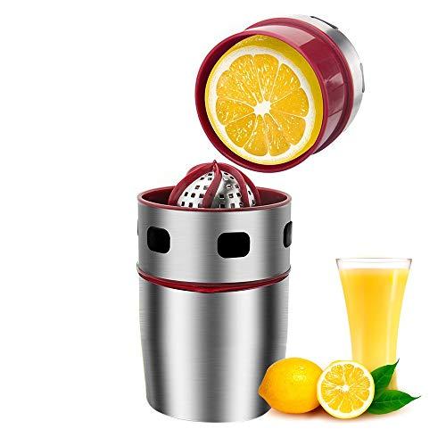 Pawaca Zitronenpresse Edelstahl Orangenpresse Manuelle Saftpresse Spülmaschinenfest Schneller und Effektiver für Zitronen Orangen