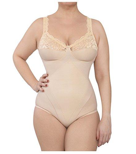 Body donna contenitivo modellante coppa d made in italy in cotone e microfibra (8°( 3 extralarge 56), nudo)