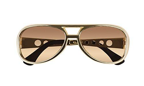 erdbeerclown - Elvis Brille Kostüm Sonnenbrille Rock´n Roll, (N Boy Rock Kostüme Roll)
