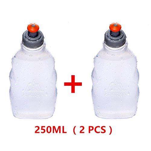 AONIJIE 2 Stück 170/250ml Trinkflaschen für Running Wandern Marathon (250ML)