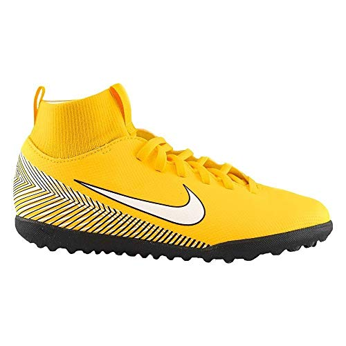 Nike Jr Superfly 6 Club NJR Tf, Scarpe da Calcetto Indoor Unisex-Bambini, Multicolore (Amarillo/White-Black 710), 38 EU