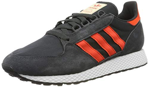 adidas Herren Forest Grove Gymnastikschuhe, Schwarz Carbon/Active Orange/Easy Yellow, 42 2/3 EU