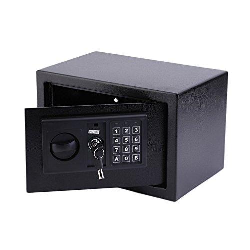 Homgrace Tresor Wandtresor Möbeltresor Mini Safe Tresor Wandsafe mit Elektronik-Zahlenschloss und Schlüssel, 31 x 20 x 20 cm, 8,5 L, Schwarz