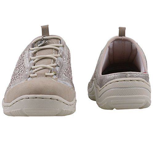 RiekerL0568-40 - Scarpe chiuse Donna vapor/altsilber/staub-silber/silverflower / 40