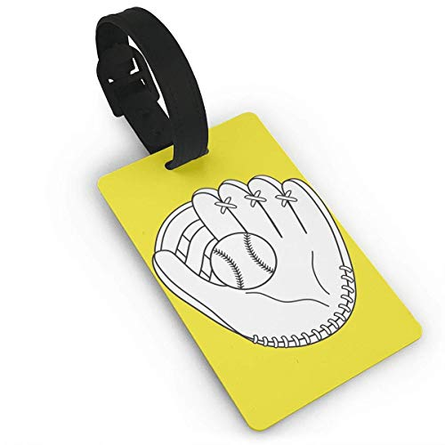 Ewtretr Gepäckanhänger for Travel Luggage Tags with Genuine Hand Strap Baseball Glove Travel Suitcase Bag Tag Identify Label