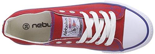 NebulusIdaho - Scarpe da Ginnastica Basse Donna Rosso (Rosso (rosso))