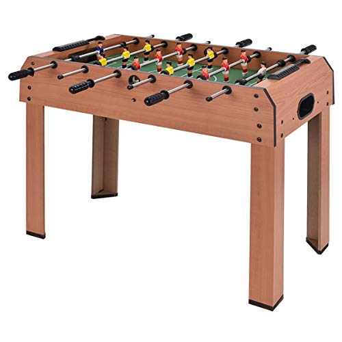 COSTWAY 37'' Football Table, Football Soccer Game Toy Set with Wooden Frame for Kids, Family and Party (37