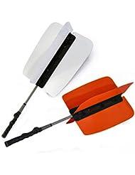 crestgolf Potencia Resistencia Entrenamiento para Golf 79cmx32.5cm, Molinete Swing Power Fan entrenador práctica formación SIDA, 2pcs, Unidades), dos colores, Amarillo y Blanco