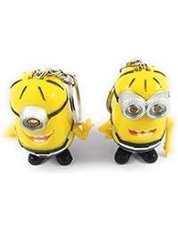 Key Era Combo Of 2 Pc Disney Despicable Me Minion With Led Light & I Love U Sound Yellow Colour PVC Keychain &...