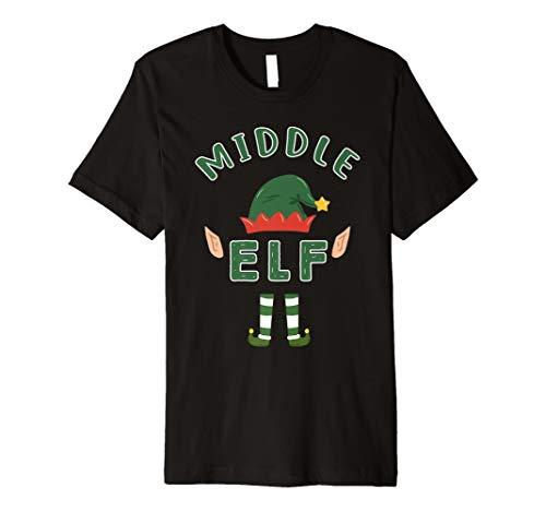 Mitte Elf Passende Elfen Familie Weihnachten Schlafanzüge T-Shirt