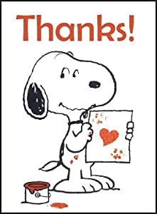 Thank You Cards Snoopy X16 Amazon Co Uk Kitchen Amp Home