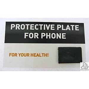 Schungit-Platte, selbstklebend, rechteckig, Schutz gegen Strahlen fuer Handys