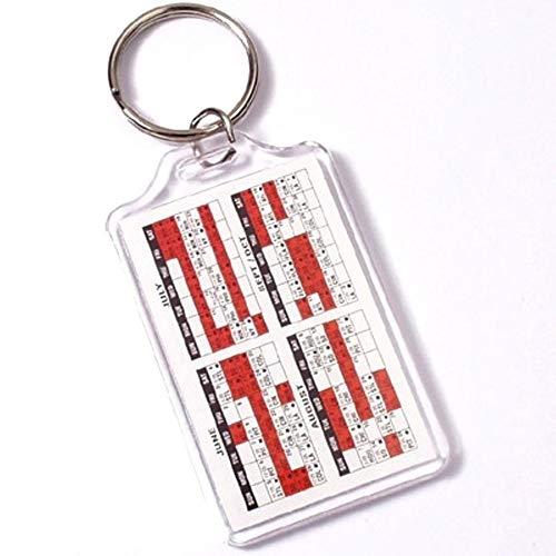 PC3721@ Jumbo Blank Clear Acryl Foto Schlüsselanhänger 70 x 45 mm, Modell E1306 (10 Stücke)