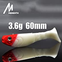 Generic ABCDEF : MEREDITH FISHING 200 pcs/lot+10HOOKS AS GIFT 3.6g 60mm fly ice Fishing lure tackle soft Lures sale pesca