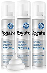Men's Rogaine Extra Strength 5% Minoxidil Topical Aerosol Hair Regrowth Treatment Foam 3 Month Supply (eac