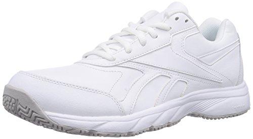 Reebok Work 'N Cushion, Scarpe da camminata unisex adulto, Bianco (Bianco), 45.5