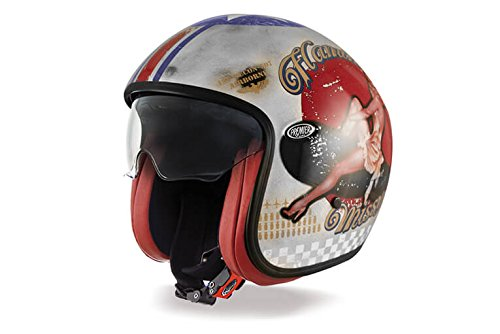 Premier Casco Vintage Pin Up Old Style Silver, Multicolore, M
