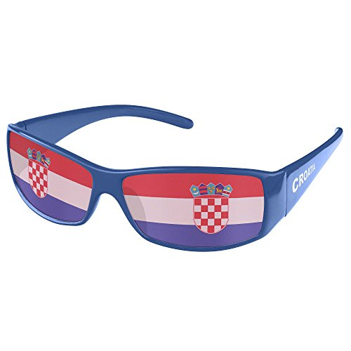 Piersando Sonnenbrille Brille Fahne Fussball EM & WM Länderflagge Augen Fanartikel Land Flagge Kroatien