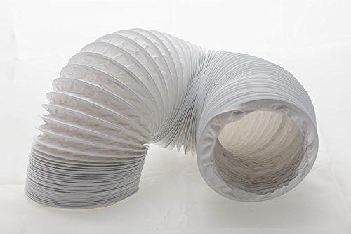 Abluftschlauch PVC flexibel Ø 125 / 127 mm, 6 m z.B. für Klimaanlagen, Wäschetrockner, Abzugshaube -