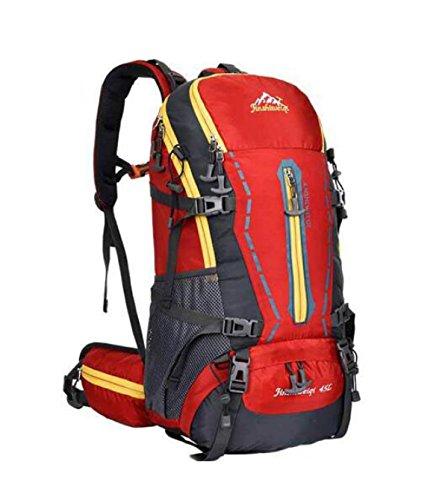 Outdoor Profi Bergsteigen Tasche Wandern Camping Rucksack Groß Kapazität Red