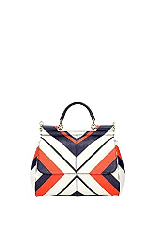 Hand Bags Dolce&Gabbana Women Leather White, Orange, Blue and Gold
