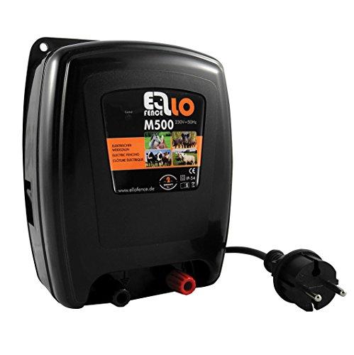 Ellofence Weide – Appareil électrique/clôture Appareil M500–5 JOULE – pour animaux, vache, cheval, moutons, sangliers, 230 V