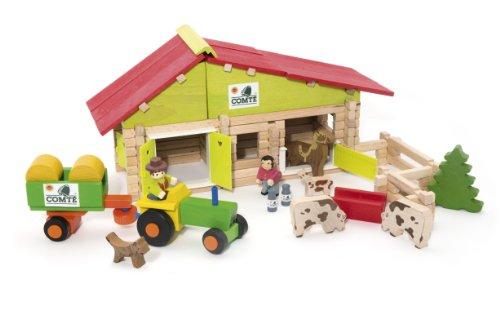 JEUJURA - A1202824 - Jeux de construction - Ferme avec tracteur et animaux
