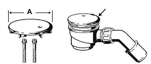 Viega Umrüstsatz, Abdeckhaube für Tempoplex-Ablauf, Ablaufgarnitur für Dusche und Badewanne, 112 mm, Art.Nr. VIE581633