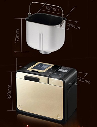 LVZAIXI Top Edition Bread Maker, 1.2 kg, 615 W, Stainless Steel