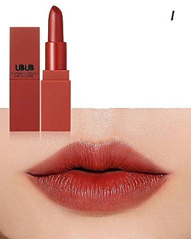 yitla Mat Liquid Lip Gloss Rouge à lèvres étanche Durable, 5couleurs