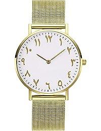 ZXMBIAO Reloj De Pulsera Reloj De Mujer Reloj De Cuarzo De Acero Inoxidable  con Banda De Malla Metálica Relojes De… c89af2285a0a