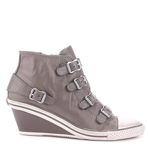 Ash GENIAL Mid-Wedge Trainers Perkish Grey Leather 40EU / 7UK Perkish