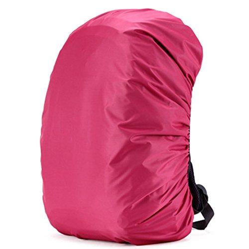 Scisu 55-60L Rosa Wasserdichte Pack Regen Abdeckung Rucksack Schutzhülle (Rucksack Abdeckung Für Flugreisen)