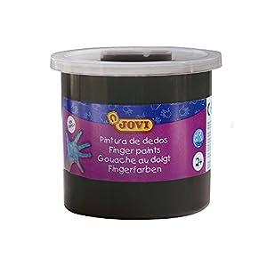 Jovi - Estuche, 5 Botes con Pintura de Dedos, 125 ml, Color Negro (56030)