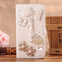 C-GUESS Samsung Galaxy S4 SIV S IV i9500 Jewelry Bling Diamond Gem Leather Smart Case Cover