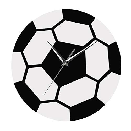 Shuangklei Hora del Fútbol Reloj De Pared Fútbol Simple Moderno ...