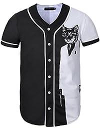 STEAM PANDA Camiseta De Manga Corta Impresa 3D Unisex Camiseta Camisa De  Béisbol 701f77a4a04