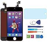 "AUODA Pantalla Táctil LCD Para Iphone 5S (4.0"") Táctil Reemplazo Marco Digital Conjunto Completo &Vidrio Protector (Negro)"